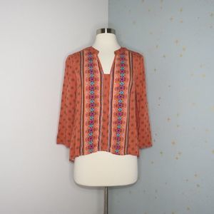Jack by BB Dakota | Orange Tribal Print Top